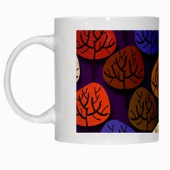 Colorful Trees Background Pattern White Mugs