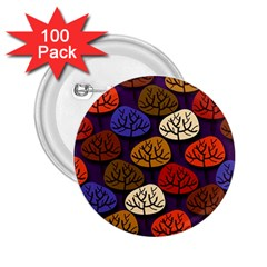 Colorful Trees Background Pattern 2 25  Buttons (100 Pack)
