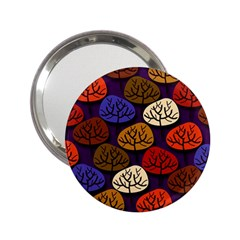 Colorful Trees Background Pattern 2 25  Handbag Mirrors