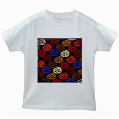 Colorful Trees Background Pattern Kids White T-Shirts