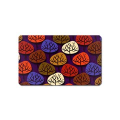 Colorful Trees Background Pattern Magnet (name Card)