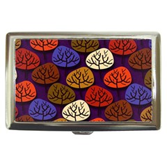 Colorful Trees Background Pattern Cigarette Money Cases
