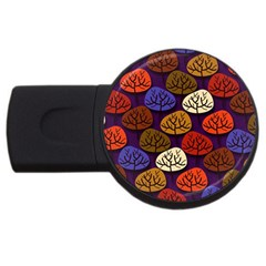 Colorful Trees Background Pattern Usb Flash Drive Round (2 Gb)