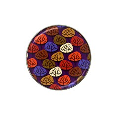 Colorful Trees Background Pattern Hat Clip Ball Marker (4 Pack)
