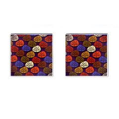 Colorful Trees Background Pattern Cufflinks (Square)