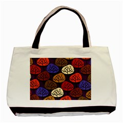 Colorful Trees Background Pattern Basic Tote Bag