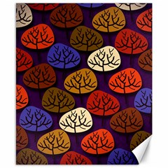 Colorful Trees Background Pattern Canvas 8  x 10