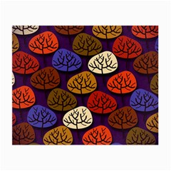 Colorful Trees Background Pattern Small Glasses Cloth (2-Side)