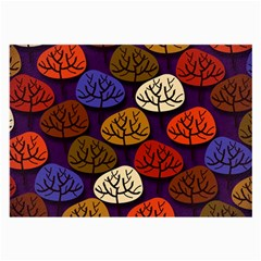 Colorful Trees Background Pattern Large Glasses Cloth (2-Side)
