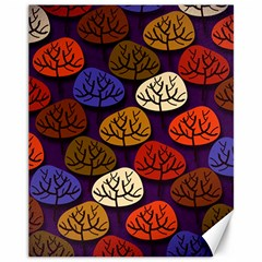 Colorful Trees Background Pattern Canvas 11  X 14