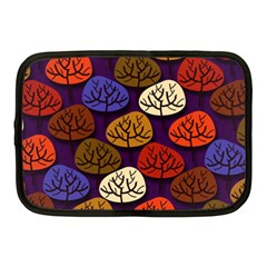 Colorful Trees Background Pattern Netbook Case (medium)