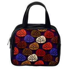 Colorful Trees Background Pattern Classic Handbags (One Side)