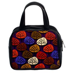 Colorful Trees Background Pattern Classic Handbags (2 Sides)