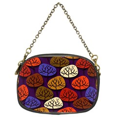Colorful Trees Background Pattern Chain Purses (two Sides)