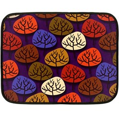 Colorful Trees Background Pattern Double Sided Fleece Blanket (Mini)