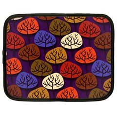 Colorful Trees Background Pattern Netbook Case (XL)