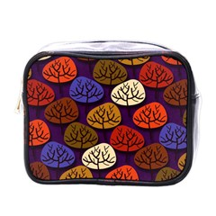Colorful Trees Background Pattern Mini Toiletries Bags