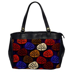 Colorful Trees Background Pattern Office Handbags