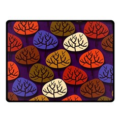Colorful Trees Background Pattern Fleece Blanket (small)