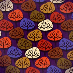 Colorful Trees Background Pattern Magic Photo Cubes
