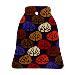 Colorful Trees Background Pattern Bell Ornament (two Sides)