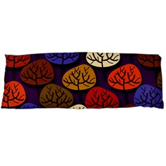 Colorful Trees Background Pattern Body Pillow Case Dakimakura (Two Sides)