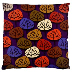 Colorful Trees Background Pattern Large Cushion Case (Two Sides)
