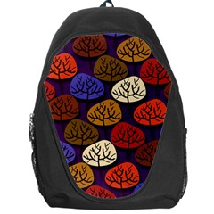 Colorful Trees Background Pattern Backpack Bag