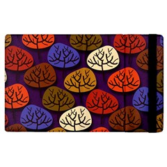 Colorful Trees Background Pattern Apple iPad 2 Flip Case