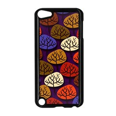 Colorful Trees Background Pattern Apple iPod Touch 5 Case (Black)