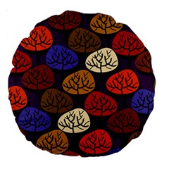 Colorful Trees Background Pattern Large 18  Premium Round Cushions
