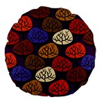 Colorful Trees Background Pattern Large 18  Premium Round Cushions Back