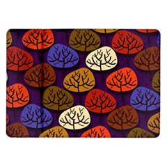 Colorful Trees Background Pattern Samsung Galaxy Tab 10 1  P7500 Flip Case