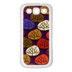 Colorful Trees Background Pattern Samsung Galaxy S3 Back Case (white)