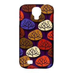 Colorful Trees Background Pattern Samsung Galaxy S4 Classic Hardshell Case (pc+silicone)