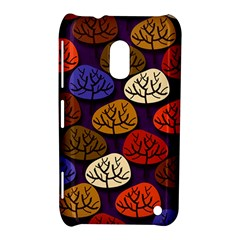 Colorful Trees Background Pattern Nokia Lumia 620