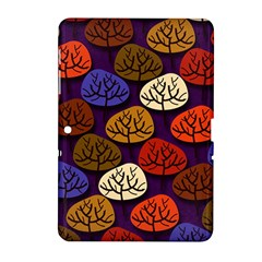 Colorful Trees Background Pattern Samsung Galaxy Tab 2 (10.1 ) P5100 Hardshell Case