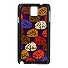 Colorful Trees Background Pattern Samsung Galaxy Note 3 N9005 Case (black)