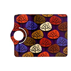 Colorful Trees Background Pattern Kindle Fire HD (2013) Flip 360 Case