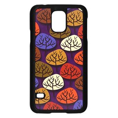 Colorful Trees Background Pattern Samsung Galaxy S5 Case (black)
