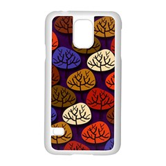 Colorful Trees Background Pattern Samsung Galaxy S5 Case (white)