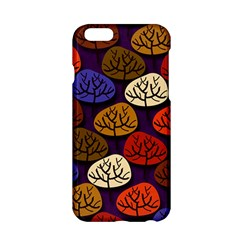 Colorful Trees Background Pattern Apple iPhone 6/6S Hardshell Case