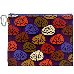 Colorful Trees Background Pattern Canvas Cosmetic Bag (xxxl)