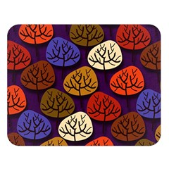 Colorful Trees Background Pattern Double Sided Flano Blanket (Large)