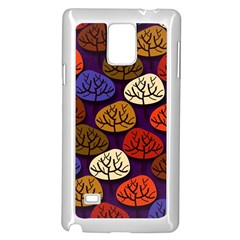 Colorful Trees Background Pattern Samsung Galaxy Note 4 Case (white)