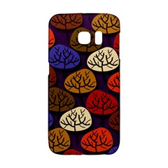 Colorful Trees Background Pattern Galaxy S6 Edge
