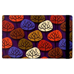 Colorful Trees Background Pattern Apple Ipad Pro 12 9   Flip Case