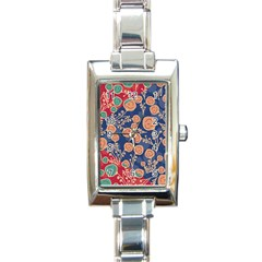 Floral Seamless Pattern Vector Texture Rectangle Italian Charm Watch