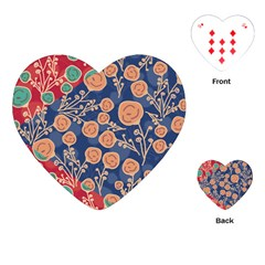 Floral Seamless Pattern Vector Texture Playing Cards (heart)