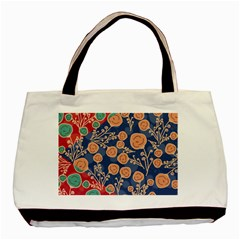 Floral Seamless Pattern Vector Texture Basic Tote Bag (Two Sides)